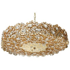 Mid-Century Jeweled Crystal Chandelier by Palwa 'Palme & Walter'
