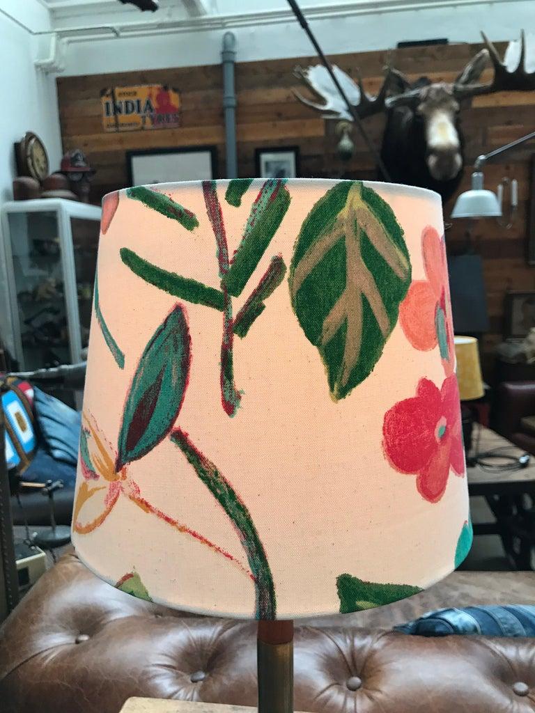 Danish Midcentury Jo Hammerborg President Table Lamp for Fog & Mørup in Teak and Brass For Sale