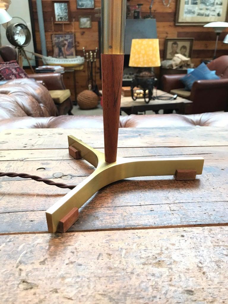 Midcentury Jo Hammerborg President Table Lamp for Fog & Mørup in Teak and Brass In Good Condition For Sale In Søborg, DK
