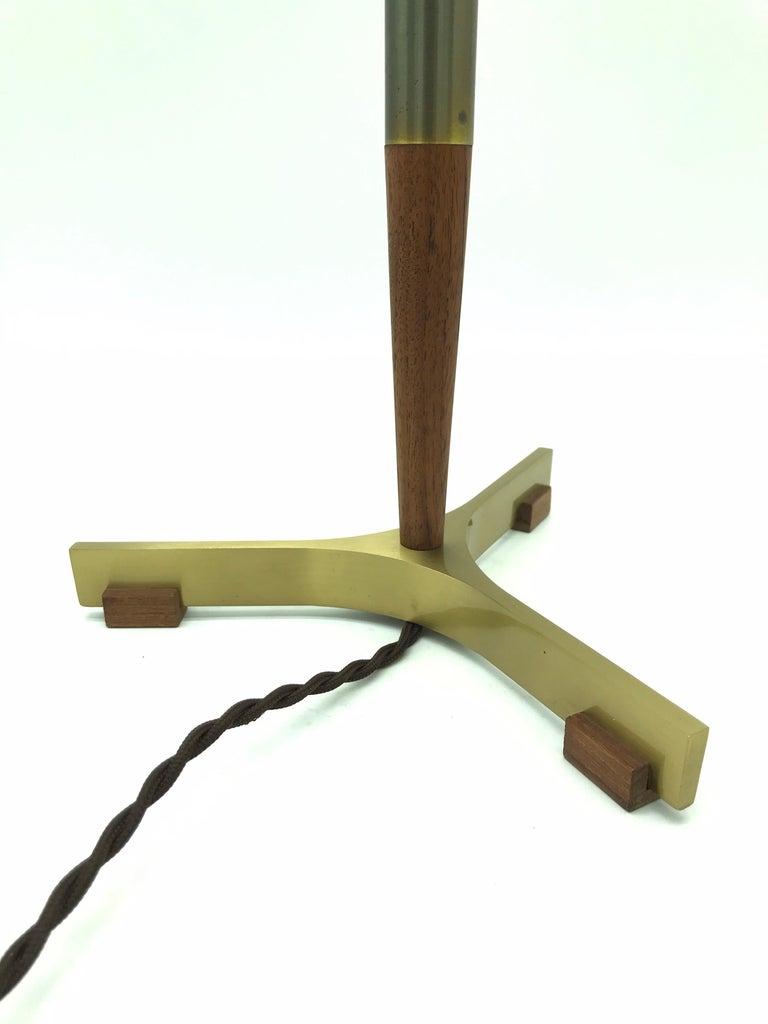 Midcentury Jo Hammerborg President Table Lamp for Fog & Mørup in Teak and Brass For Sale 2