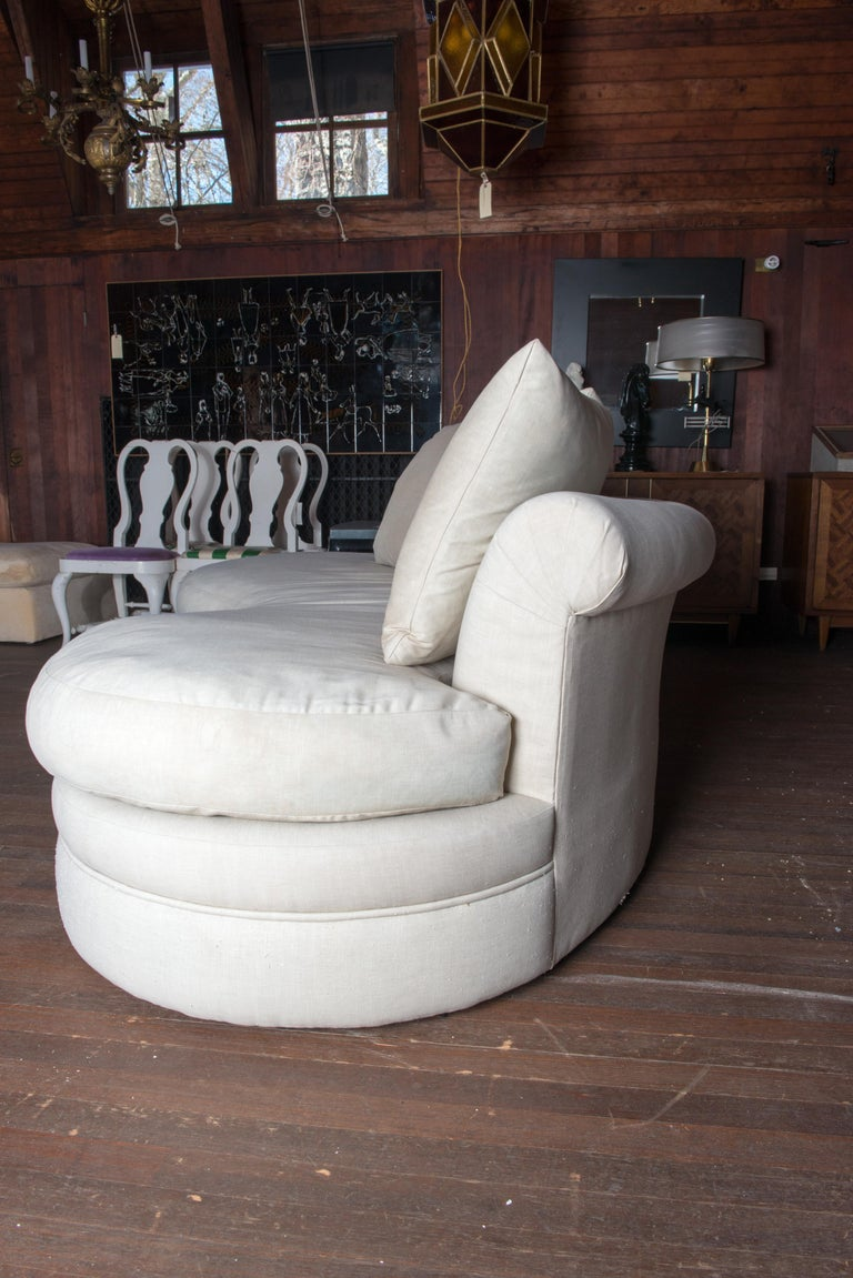Midcentury Kidney Shaped Sofa For Sale 3