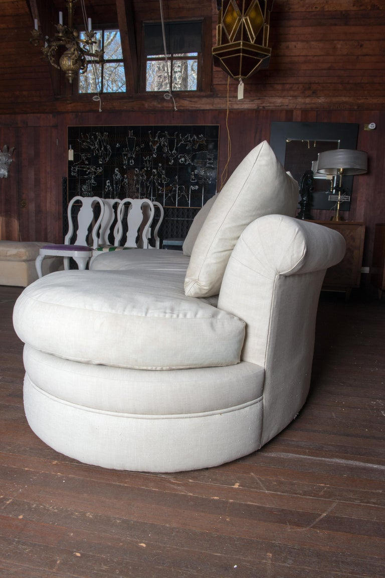 Midcentury Kidney Shaped Sofa For Sale 4