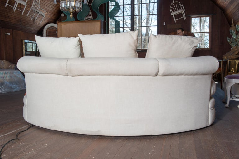 Midcentury Kidney Shaped Sofa For Sale 5