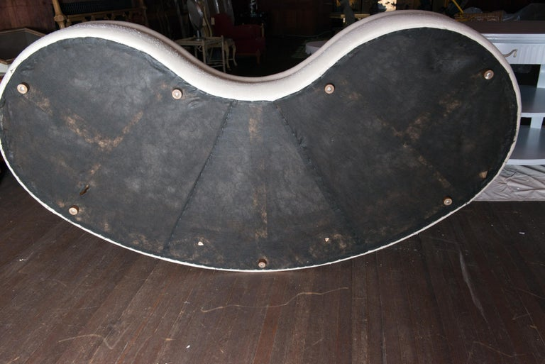 Midcentury Kidney Shaped Sofa For Sale 12
