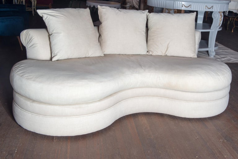 Mid-Century Modern Midcentury Kidney Shaped Sofa For Sale