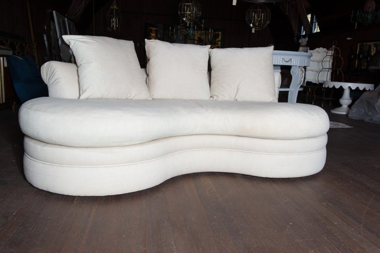 American Midcentury Kidney Shaped Sofa For Sale