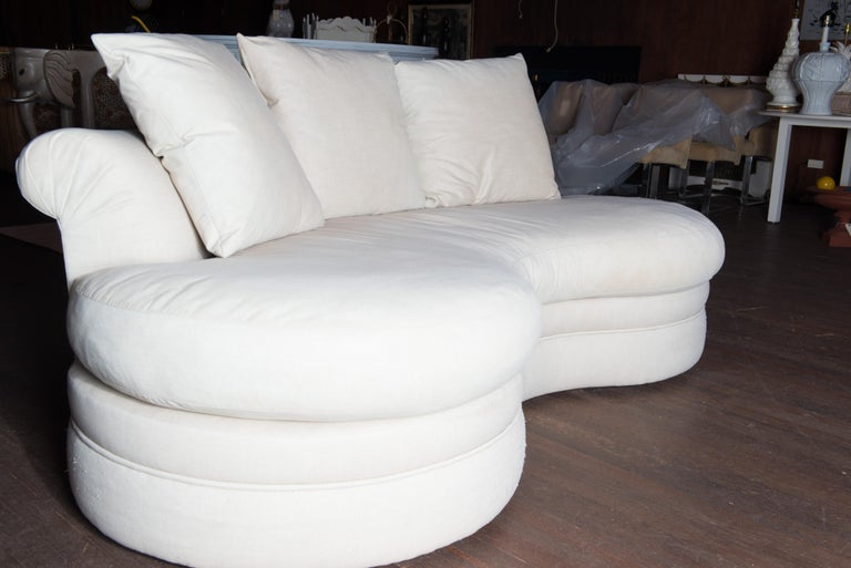 Midcentury Kidney Shaped Sofa In Good Condition For Sale In Stamford, CT