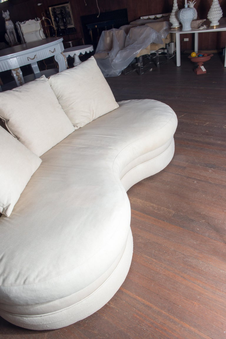 Midcentury Kidney Shaped Sofa For Sale 1