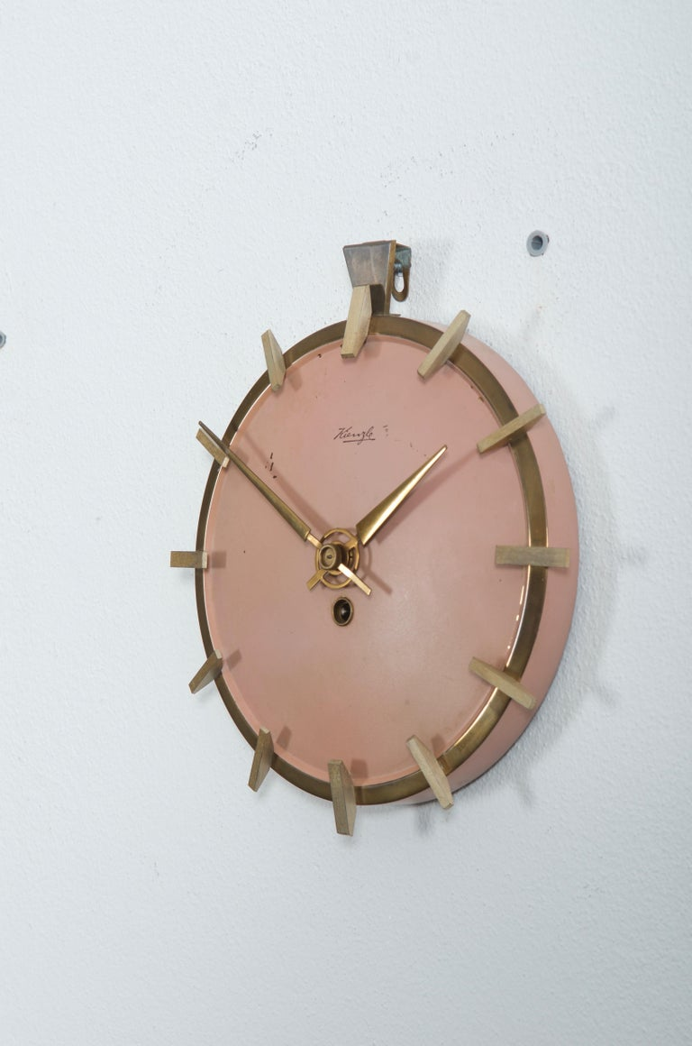 German Midcentury Kienzle Wall Clockc For Sale