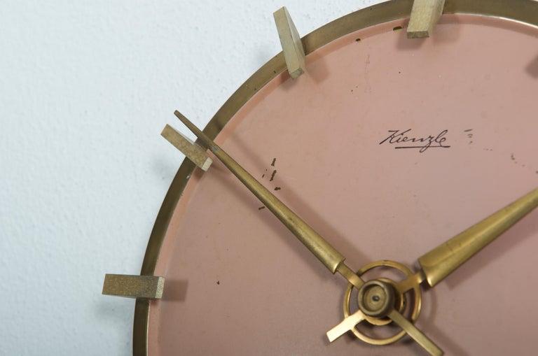 Painted Midcentury Kienzle Wall Clockc For Sale