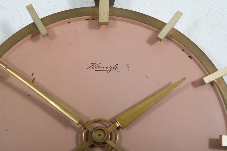 Midcentury Kienzle Wall Clockc In Good Condition For Sale In Vienna, AT