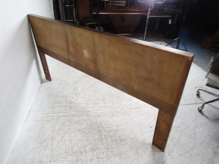 Mid-Century Modern Midcentury King Size Lane Walnut and Rosewood Headboard For Sale