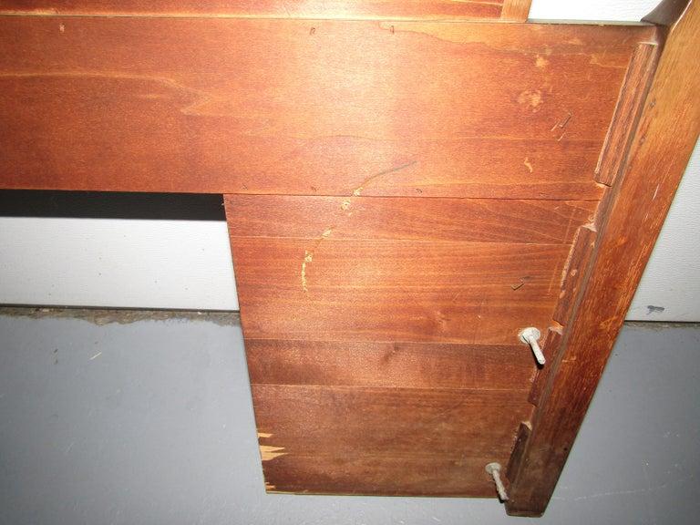 20th Century Midcentury King Size Walnut Head Board For Sale