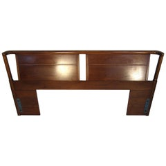 Midcentury King Size Walnut Head Board