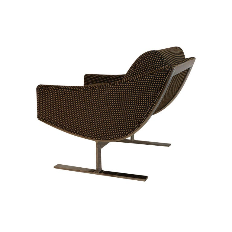 """American Midcentury Kipp Stewart """"Arc Lounge Chairs"""" for Directional For Sale"""