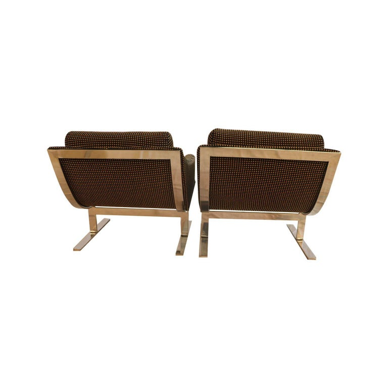 """Midcentury Kipp Stewart """"Arc Lounge Chairs"""" for Directional For Sale 1"""