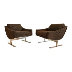 """Midcentury Kipp Stewart """"Arc Lounge Chairs"""" for Directional"""
