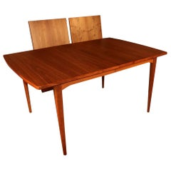 Midcentury Kipp Stewart Drexel Declaration Walnut Extension Dining Table