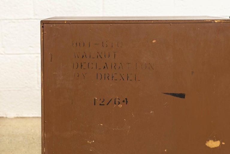 Midcentury Kipp Stewart for Drexel Declaration Wood Nightstand Tables, a Pair For Sale 3