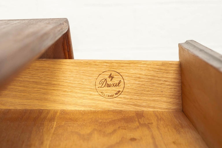 Midcentury Kipp Stewart for Drexel Declaration Wood Nightstand Tables, a Pair For Sale 2