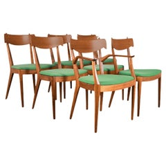 Mid Century Kipp Stewart for Drexel Dining Chairs Set of 7