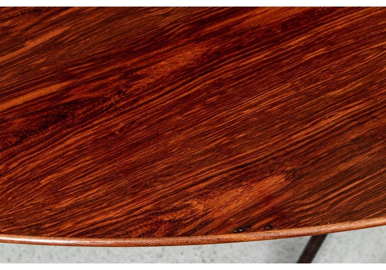 Midcentury Knoll International Oval Zebra Wood Dining/ Conference Table For Sale 3