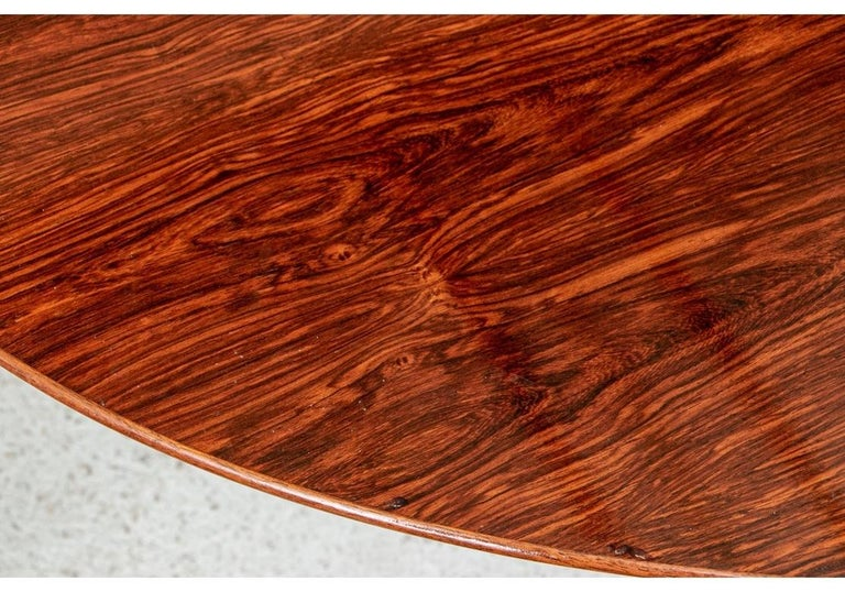 Midcentury Knoll International Oval Zebra Wood Dining/ Conference Table For Sale 4