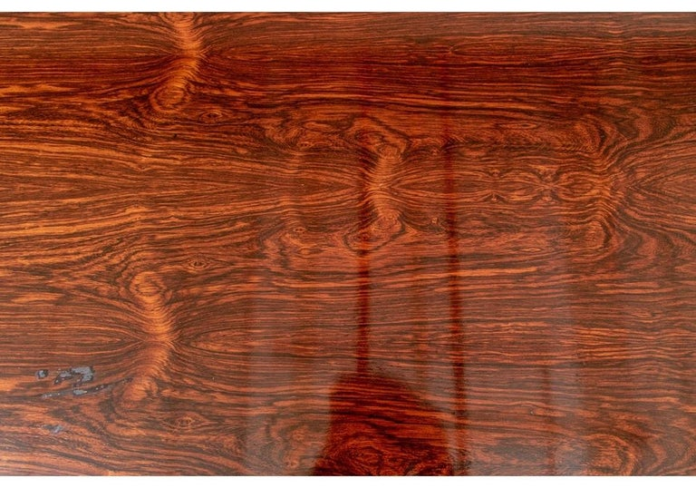 Mid-Century Modern Midcentury Knoll International Oval Zebra Wood Dining/ Conference Table For Sale