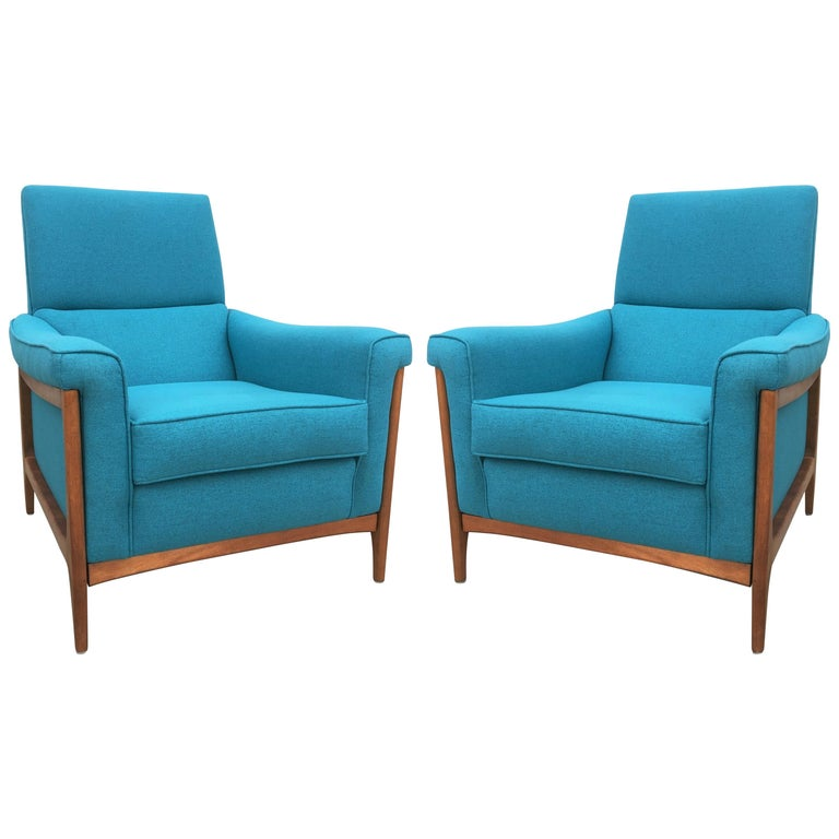 Cool Midcentury Kroehler Upholstered Lounge Chairs Machost Co Dining Chair Design Ideas Machostcouk