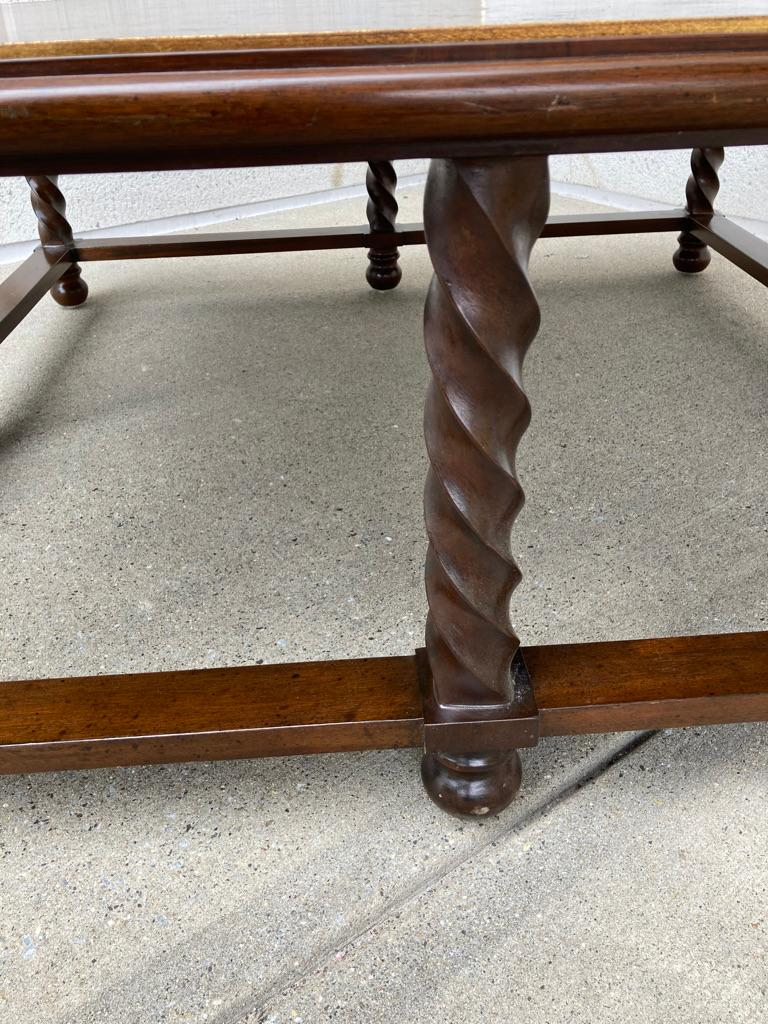 Mid Century Lacquered and Gilt Coffee Table with Walnut Base For Sale 2