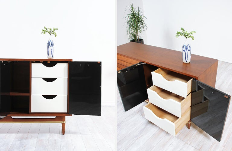 Midcentury Lacquered and Walnut Dresser by Merton Gershun 3