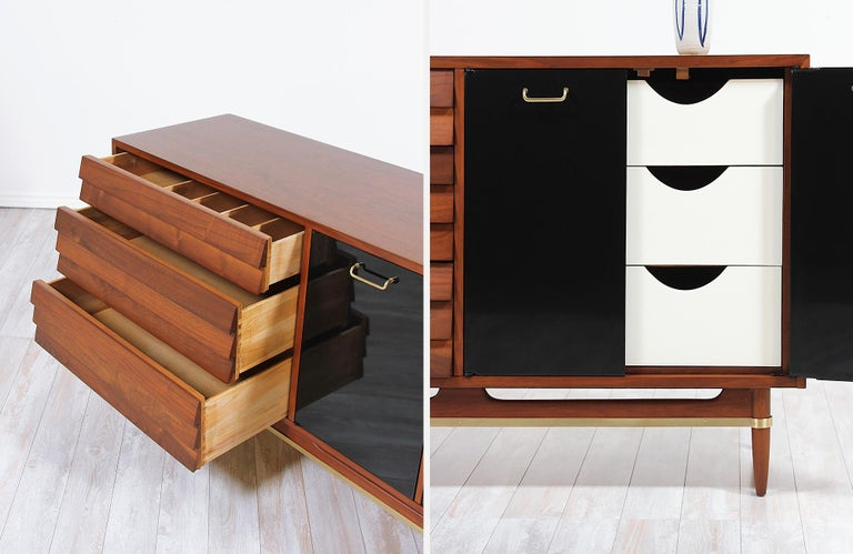 Midcentury Lacquered and Walnut Dresser by Merton Gershun 4