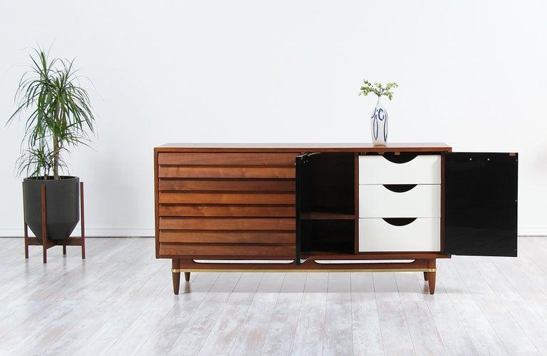 Mid-Century Modern Midcentury Lacquered and Walnut Dresser by Merton Gershun