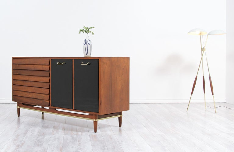 American Midcentury Lacquered and Walnut Dresser by Merton Gershun