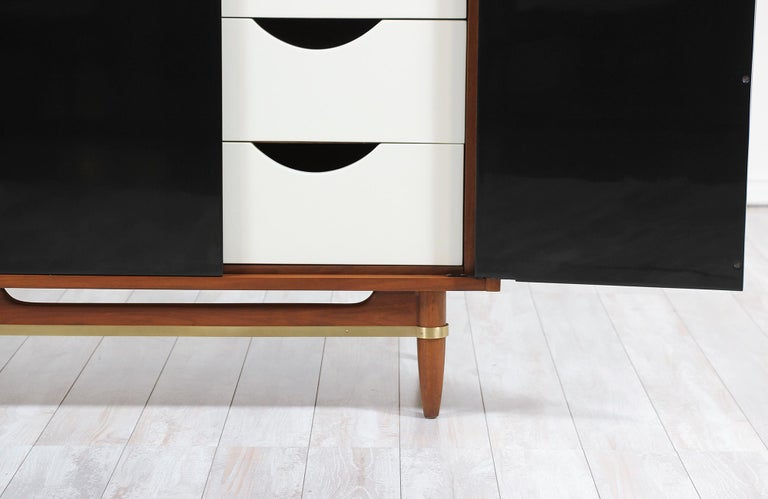 Midcentury Lacquered and Walnut Dresser by Merton Gershun 2