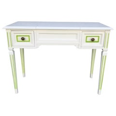 Mid Century Lacquered Louis XVI Style Dressing Table