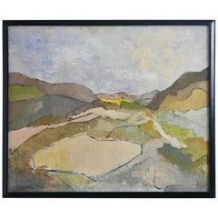 Mid-Century Landscape Painting by California Artist Leonard G. Heller