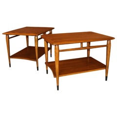 Midcentury Lane Acclaim Dovetail End Tables, Pair