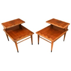 Midcentury Lane Acclaim Dovetail Two-Tier End Tables Pair
