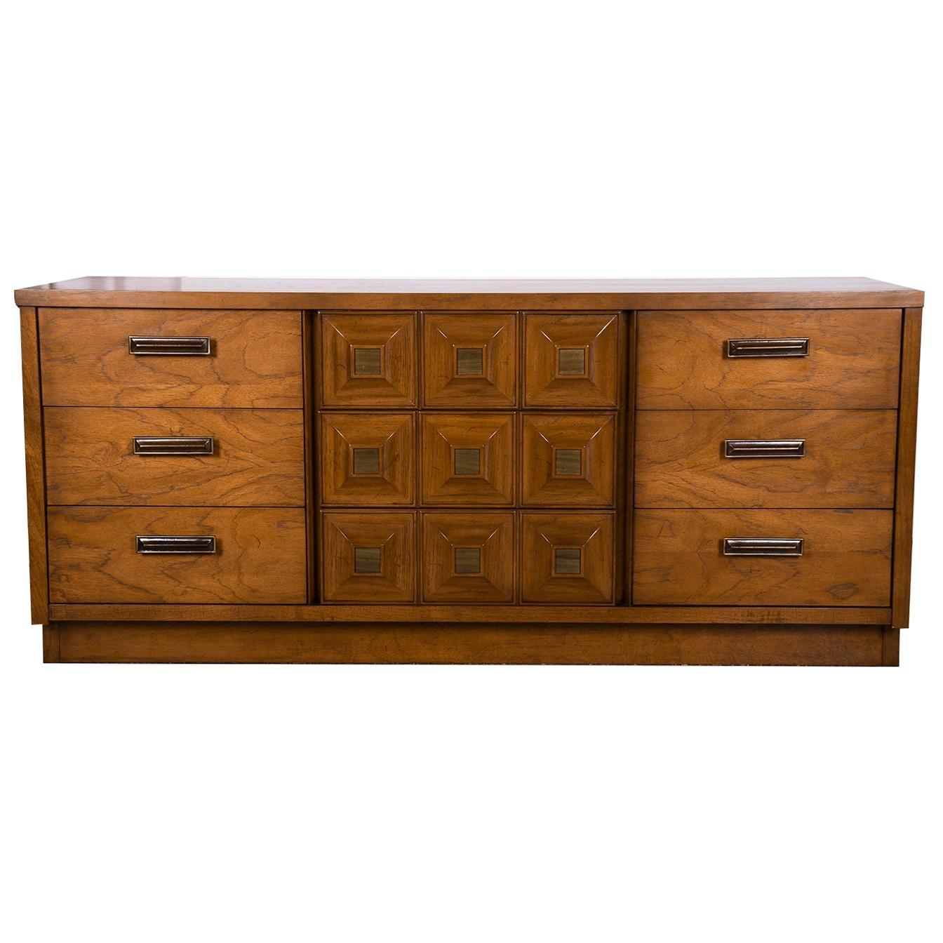 Mid Century Lane Furniture Nine Drawer Dresser