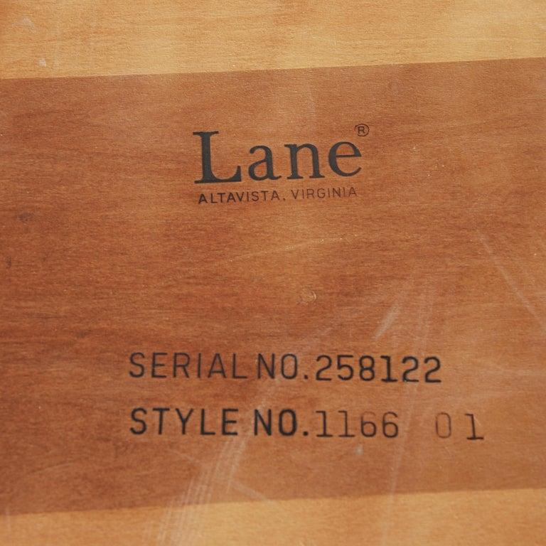Midcentury Lane Perception Oak Walnut X-Base Coffee Table For Sale 1