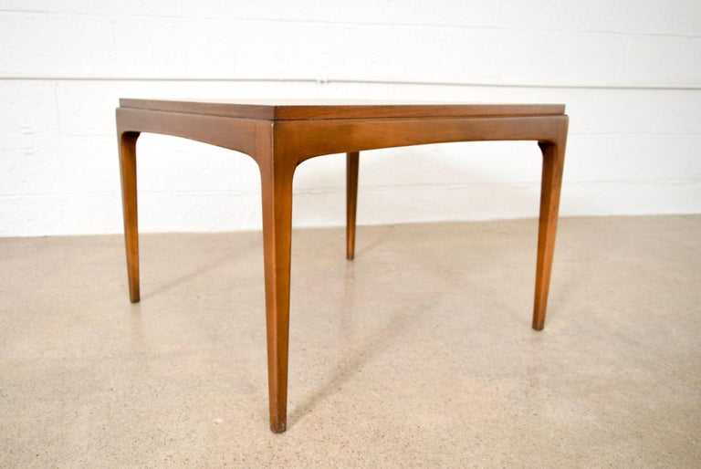 Midcentury Lane Square Walnut Wood Coffee Or End Table