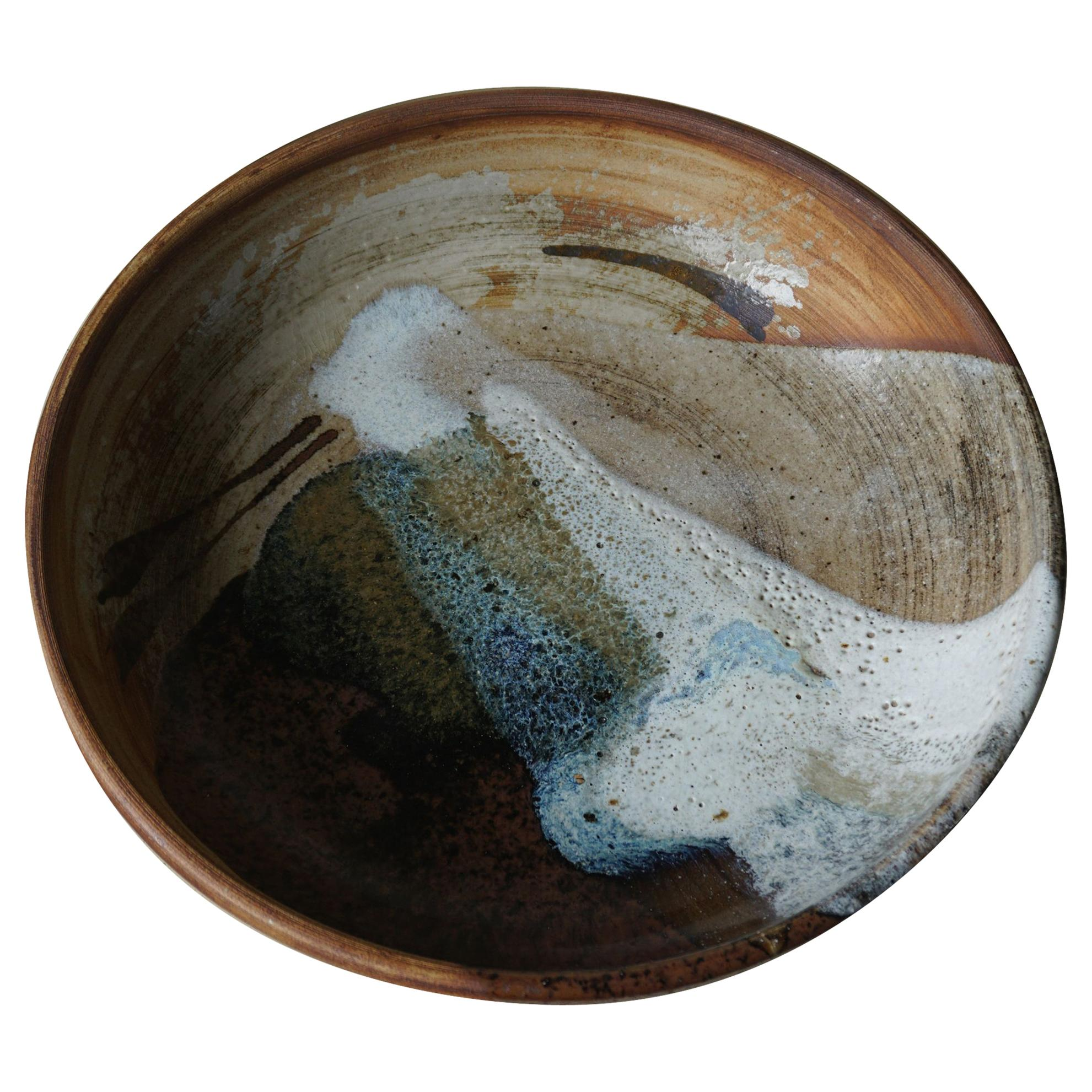 Mid Century Large Bowl in Ceramic by Conny Walther, 1970s