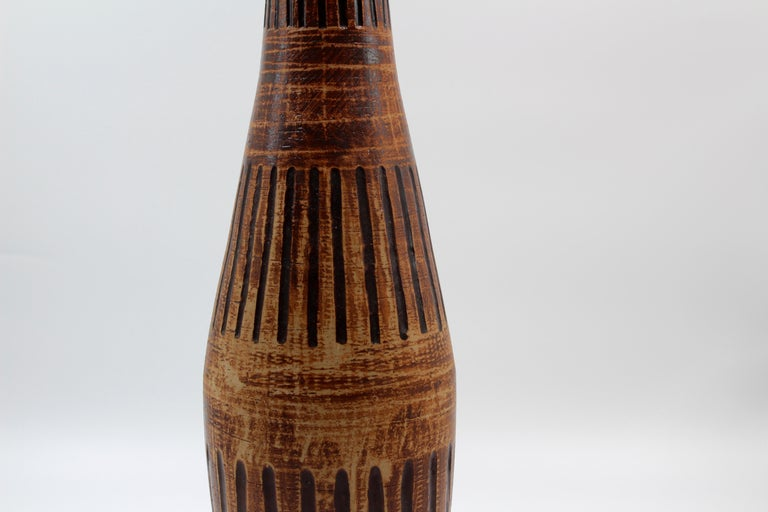 Midcentury Large Ceramic Vase by Egon Larsson for Höganäs Keramik In Good Condition For Sale In Malmo, SE