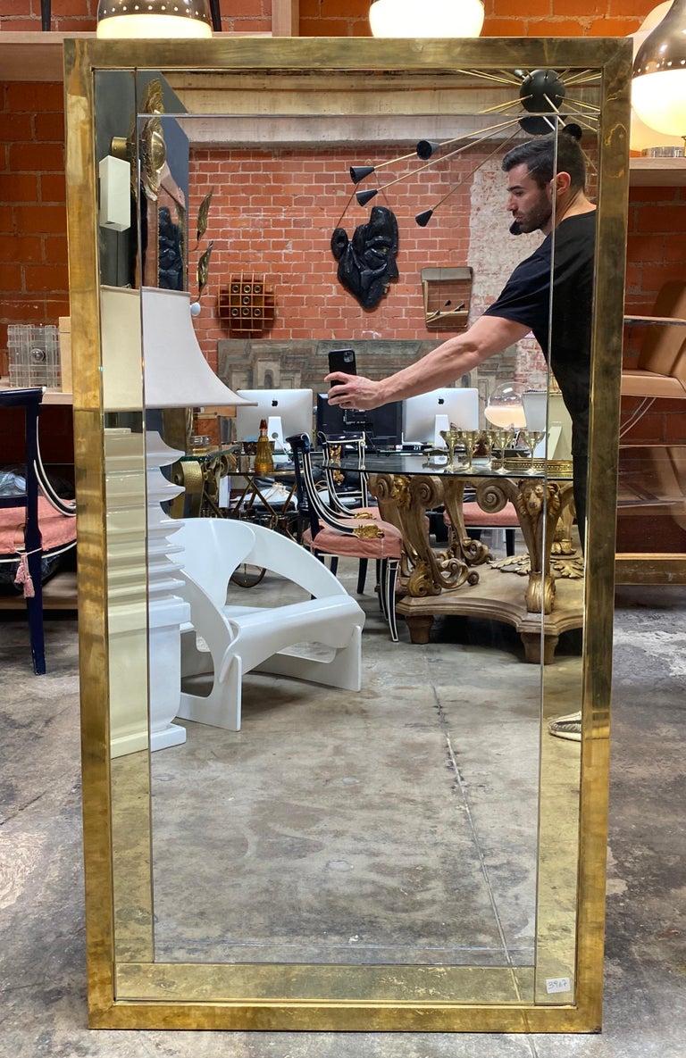 Mid century large Italian wall mirror, 1950s.