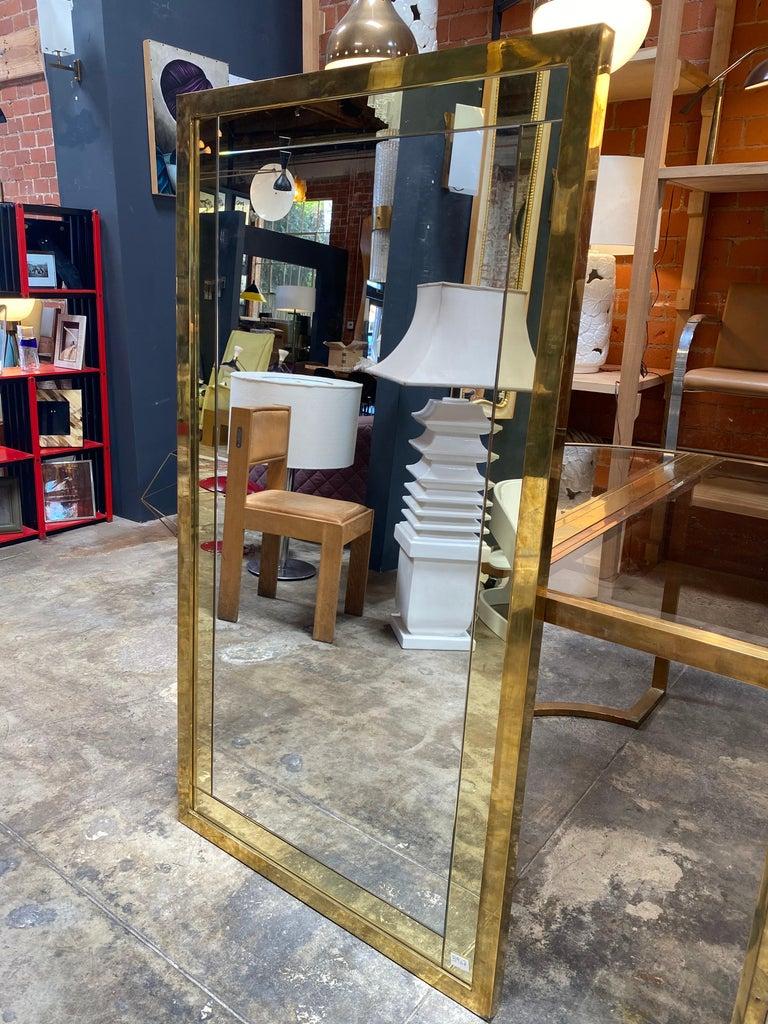 Mid-Century Modern Mid Century Large Italian Wall Mirror, 1950s For Sale