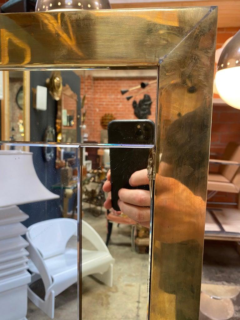 European Mid Century Large Italian Wall Mirror, 1950s For Sale