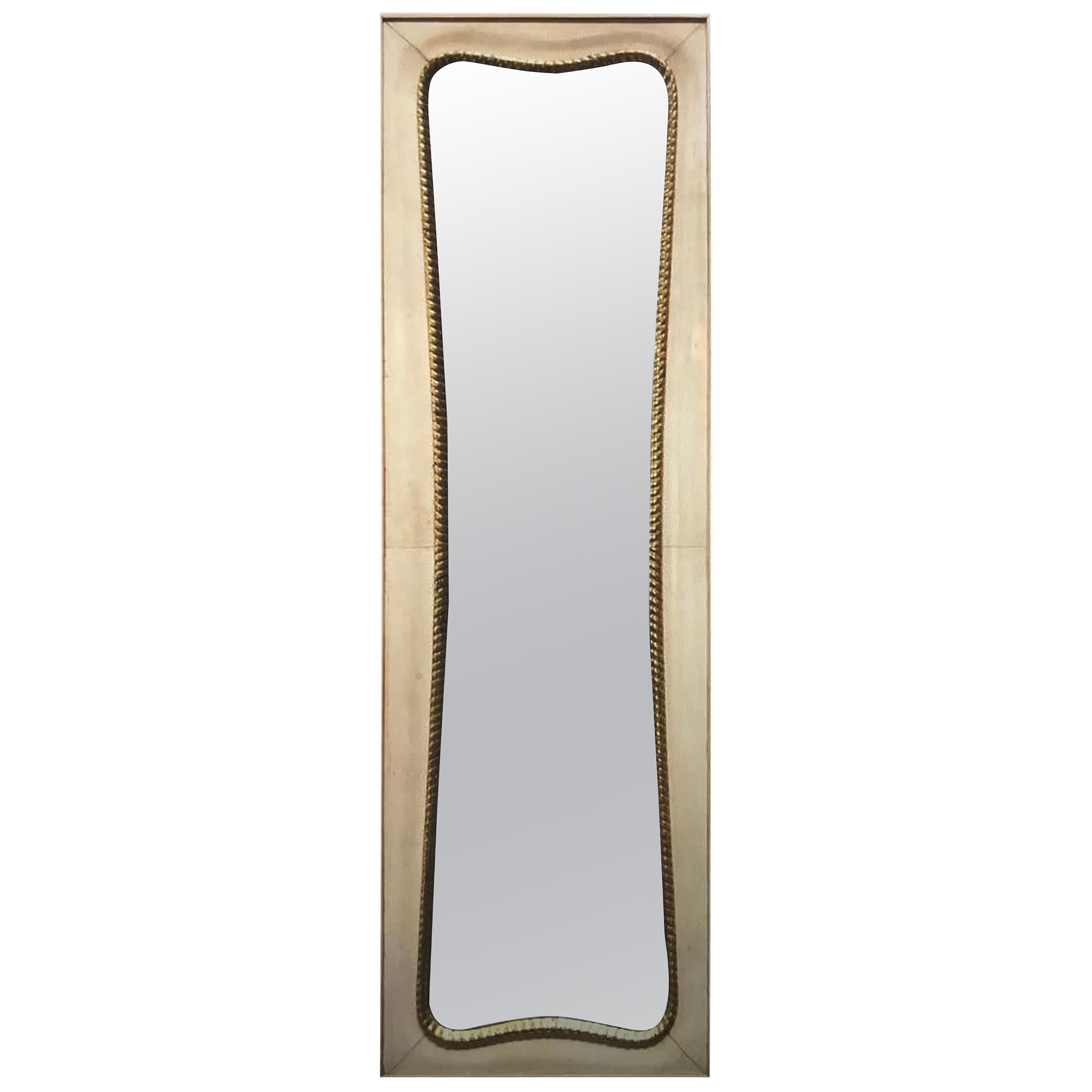 Midcentury Large Italian Wall Mirror, 1950s