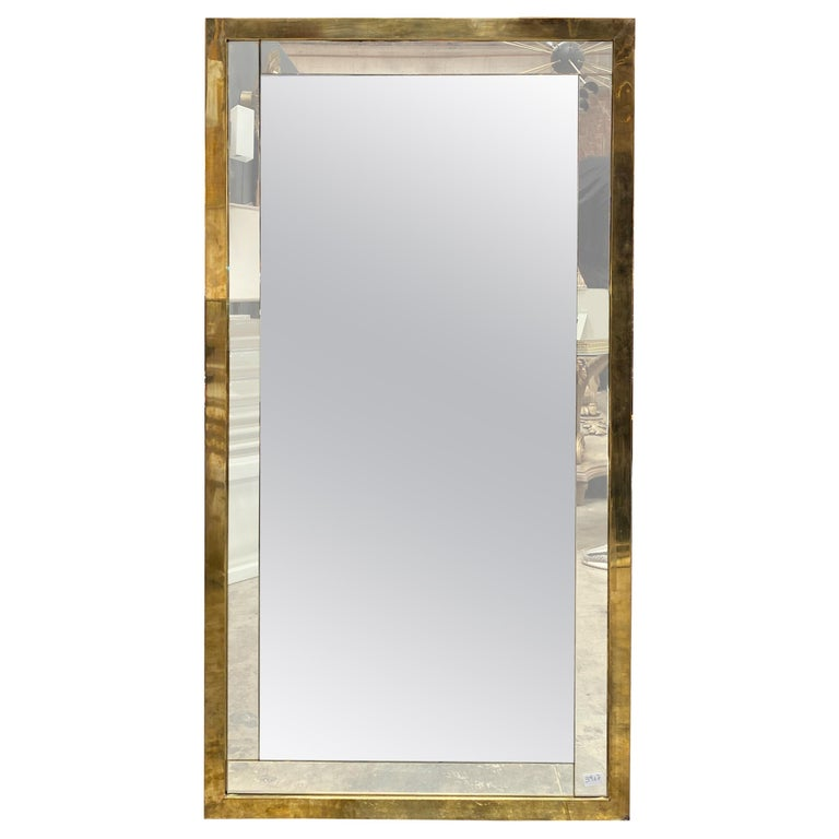 Mid Century Large Italian Wall Mirror, 1950s For Sale