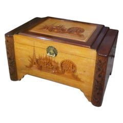 Mid-Century Large Oriental Camphor Wood Chest, Trunk, China, 1940s